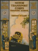 Vintage American Poster for the Motor Transport Corps Training School